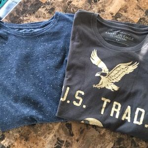 2 medium American Eagle men's shirts